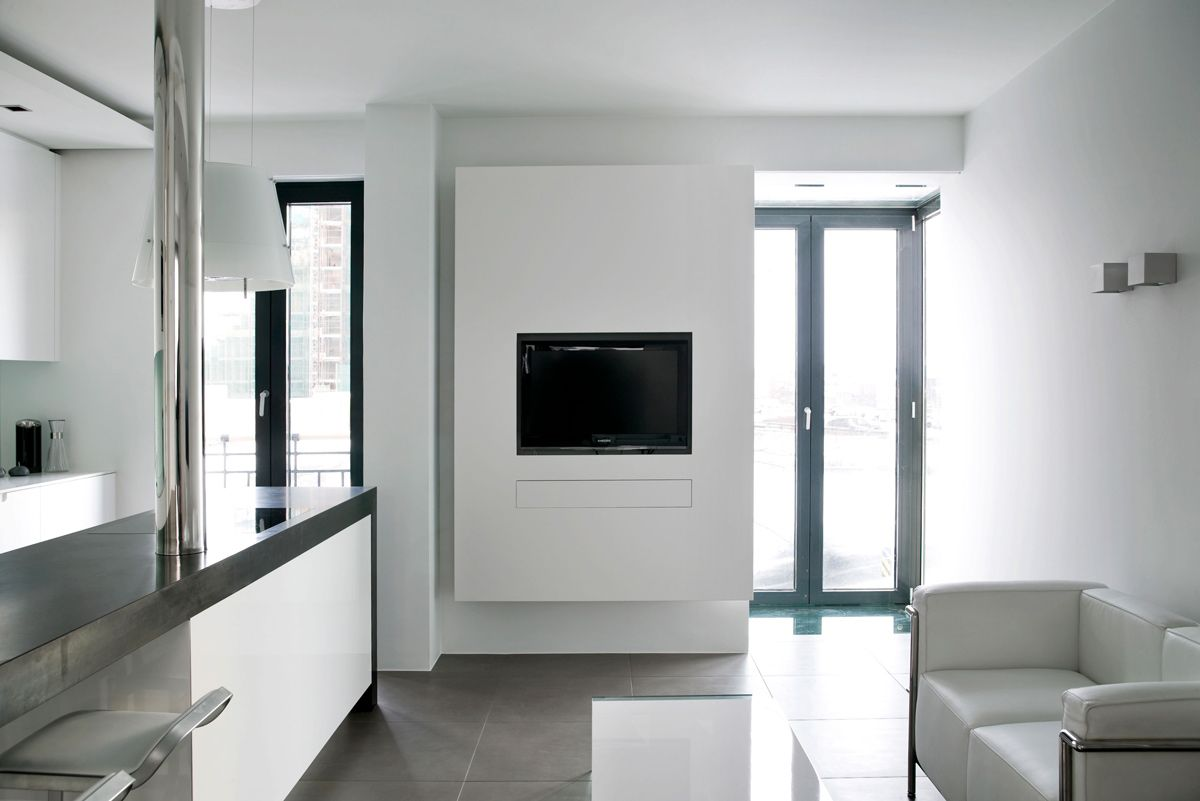Kitchen living space modern apartment in reykjavik iceland
