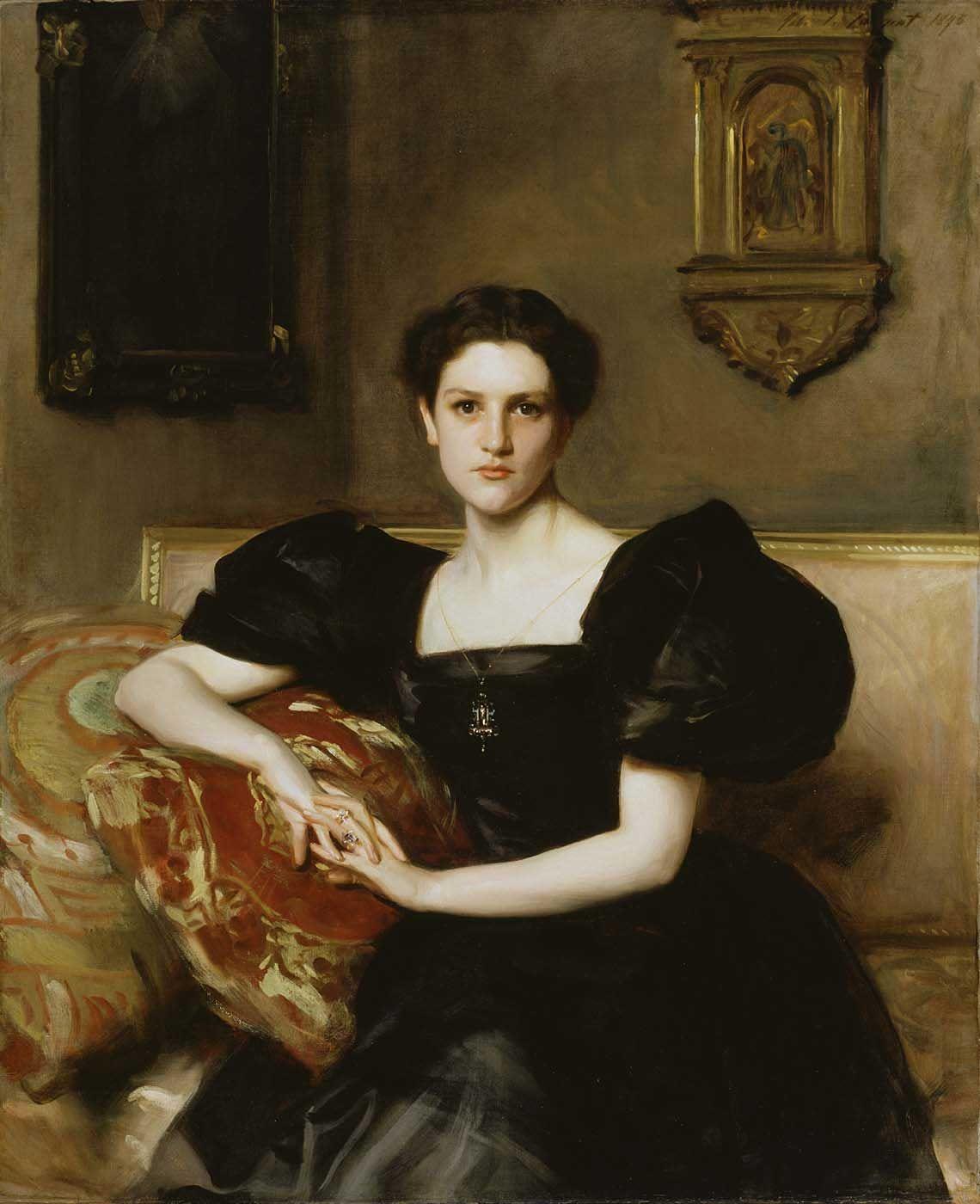 "ARTIST: John Singer Sargent ~ ""Elizabeth Winthrop Chanler"" (Mrs. John Jay Chapman) 1893 (oil)"
