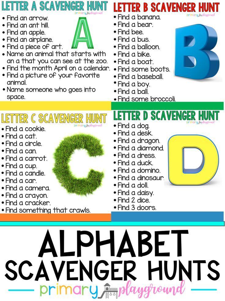 Alphabet Scavenger Hunts