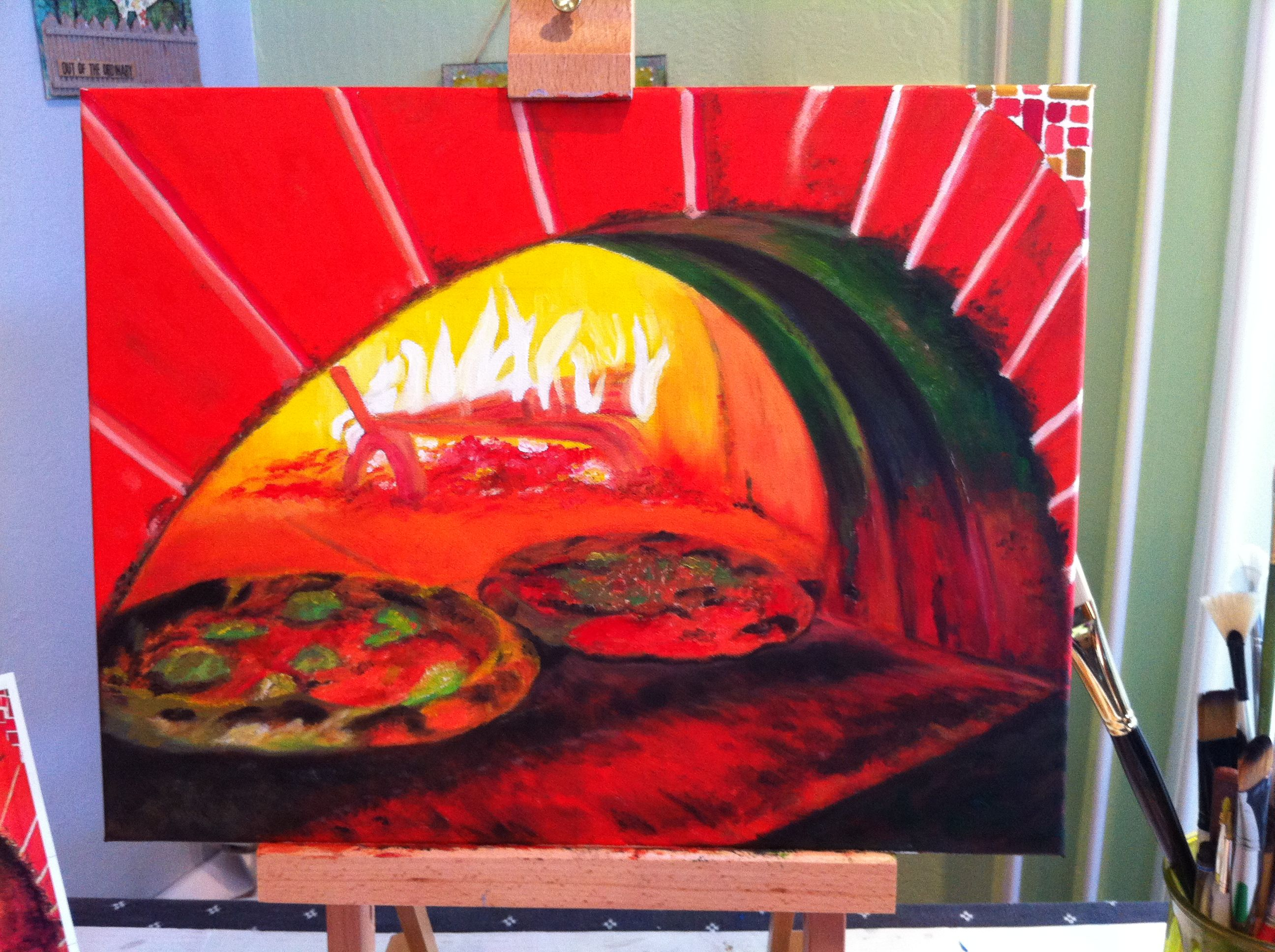 My Painting Of The Pizza Oven At The Ciccio Restaurant