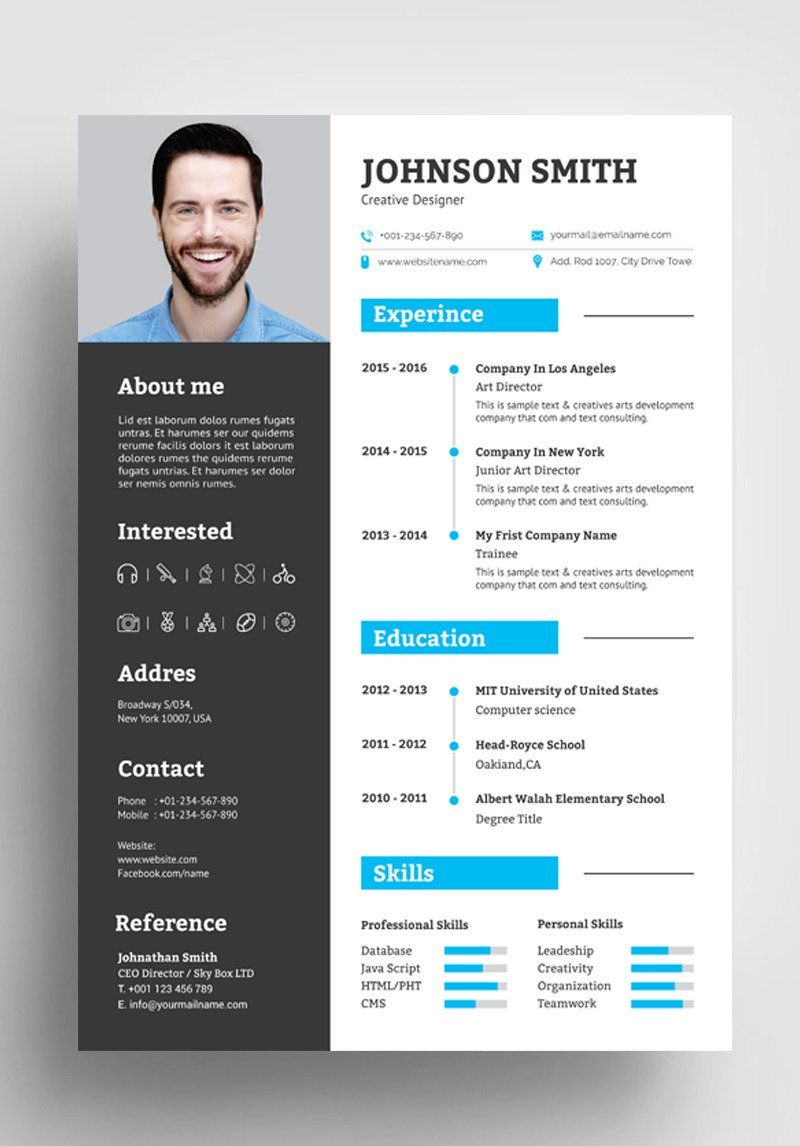 Johnson Smith Resume Template 85290 in 2020 Resume