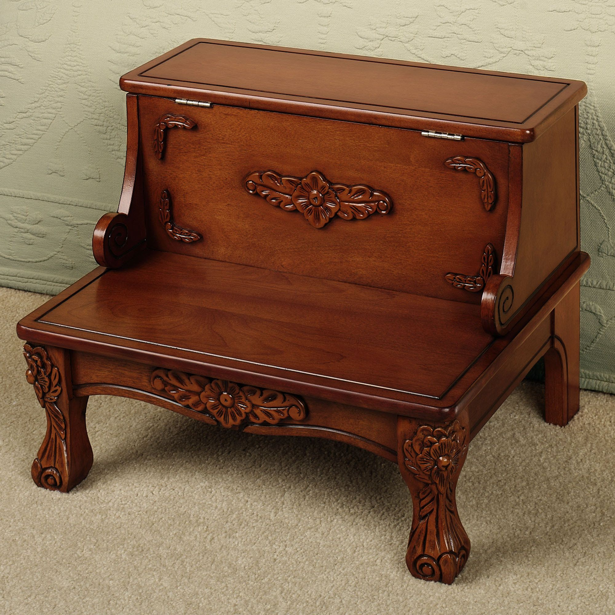 Best Victoriana Wooden Bed Steps With Storage Bed Steps Step 400 x 300