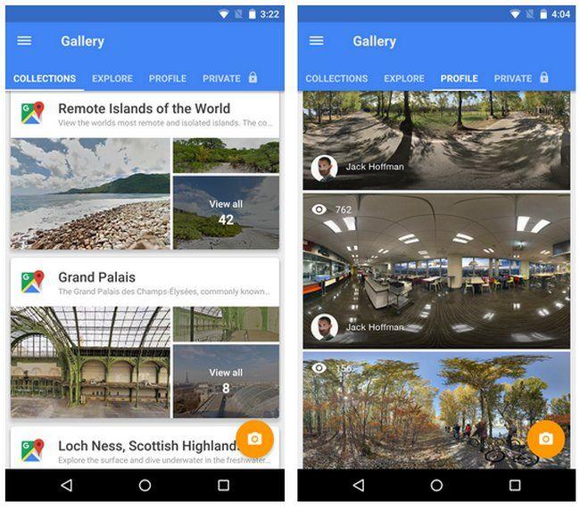 Google Street View (AndroidiOS), nueva app para explorar