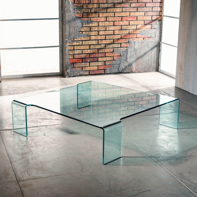 Tavolino in vetro curvato Addison da soggiorno Questo