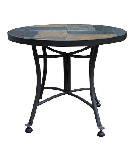 Outdoor Interiors Slate Accent Table Zulily Mosaic