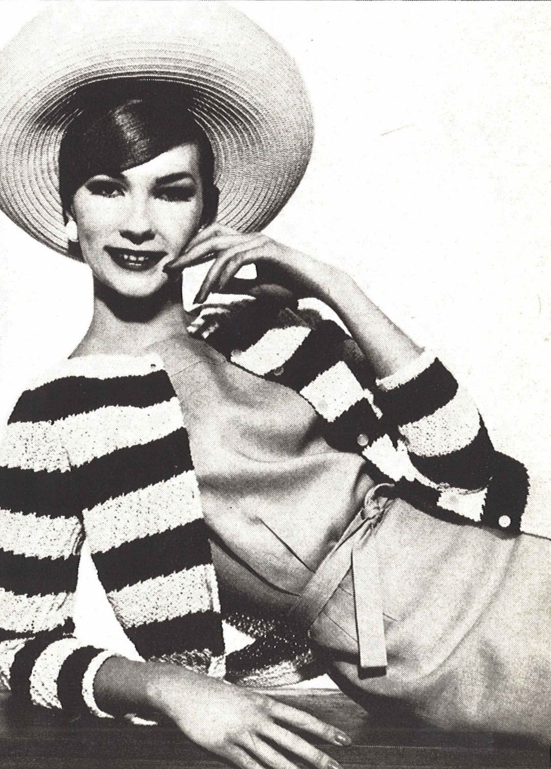 Rivera cardigan 1960s knitting striped french sweater top rivera cardigan 1960s knitting striped french sweater top pattern vintage vogue knit 1961 bankloansurffo Choice Image