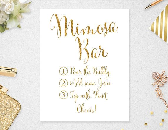 image relating to Mimosa Bar Sign Printable Free identify Mimosa Bar Indication // Fast Obtain // 8x10 // 11x14