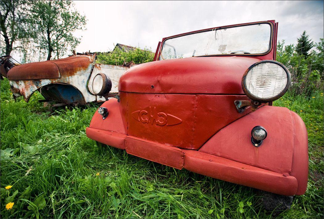 old car salvage yards | OT - Soviet Junk Yard - Ford Truck ...