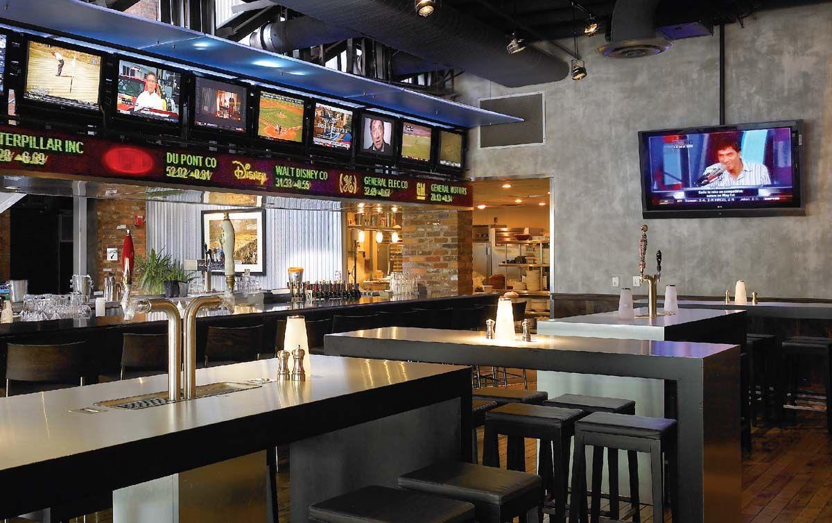 Pin by Amanda Smith on Sports Bar Atlanta bars, Table