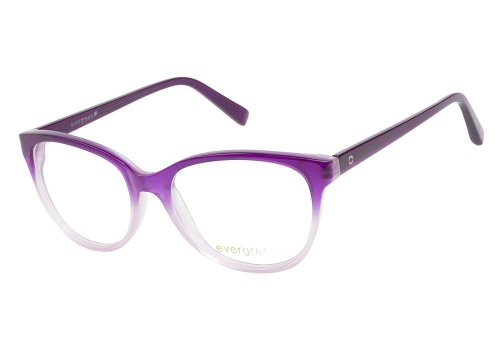 Evergreen 6016 purple eyeglasses glasses