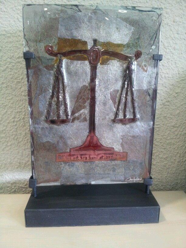 """""""Justicia""""- Fusing con metales"""