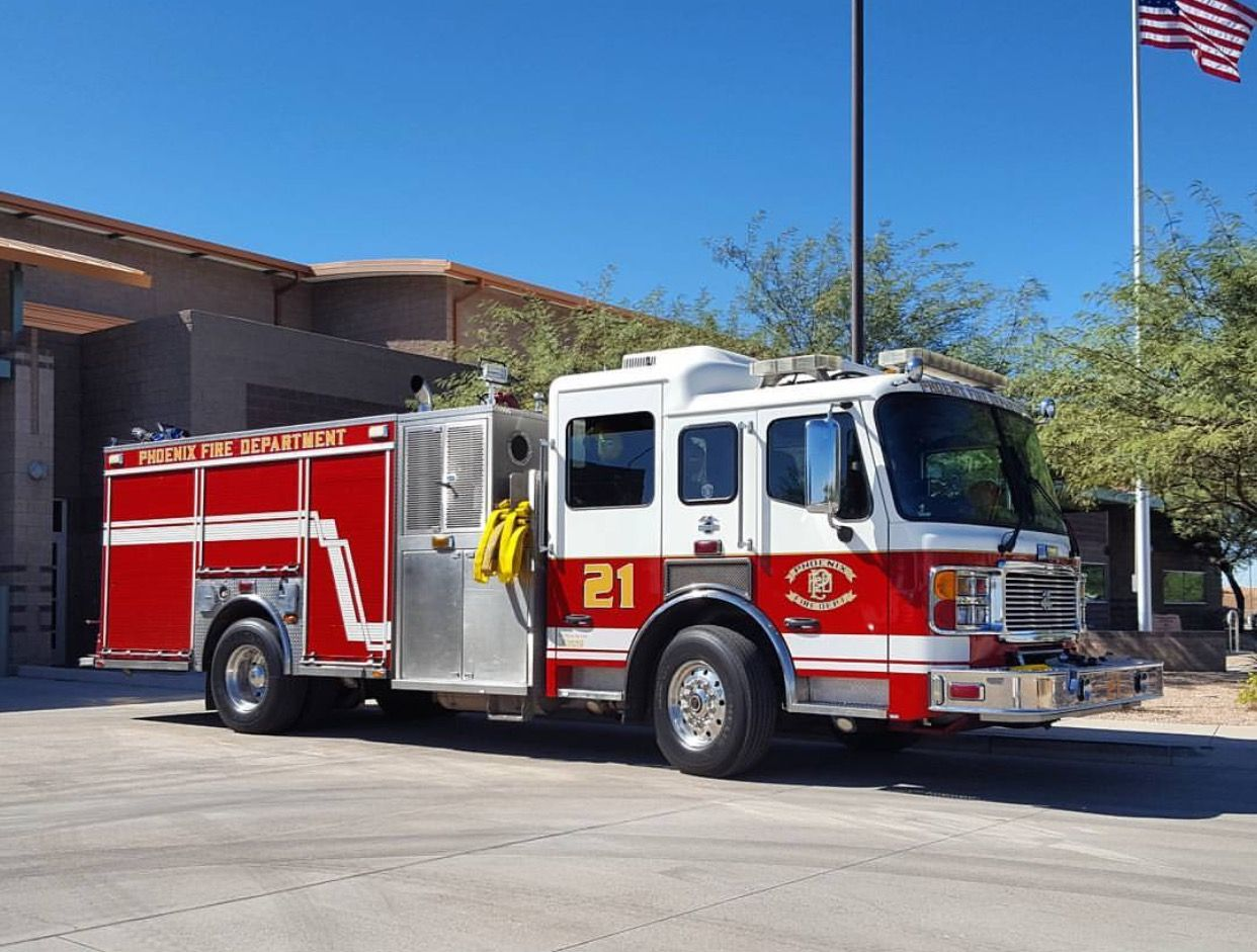 Phoenix (AZ) Fire Dept. Engine 21 Emergency vehicles
