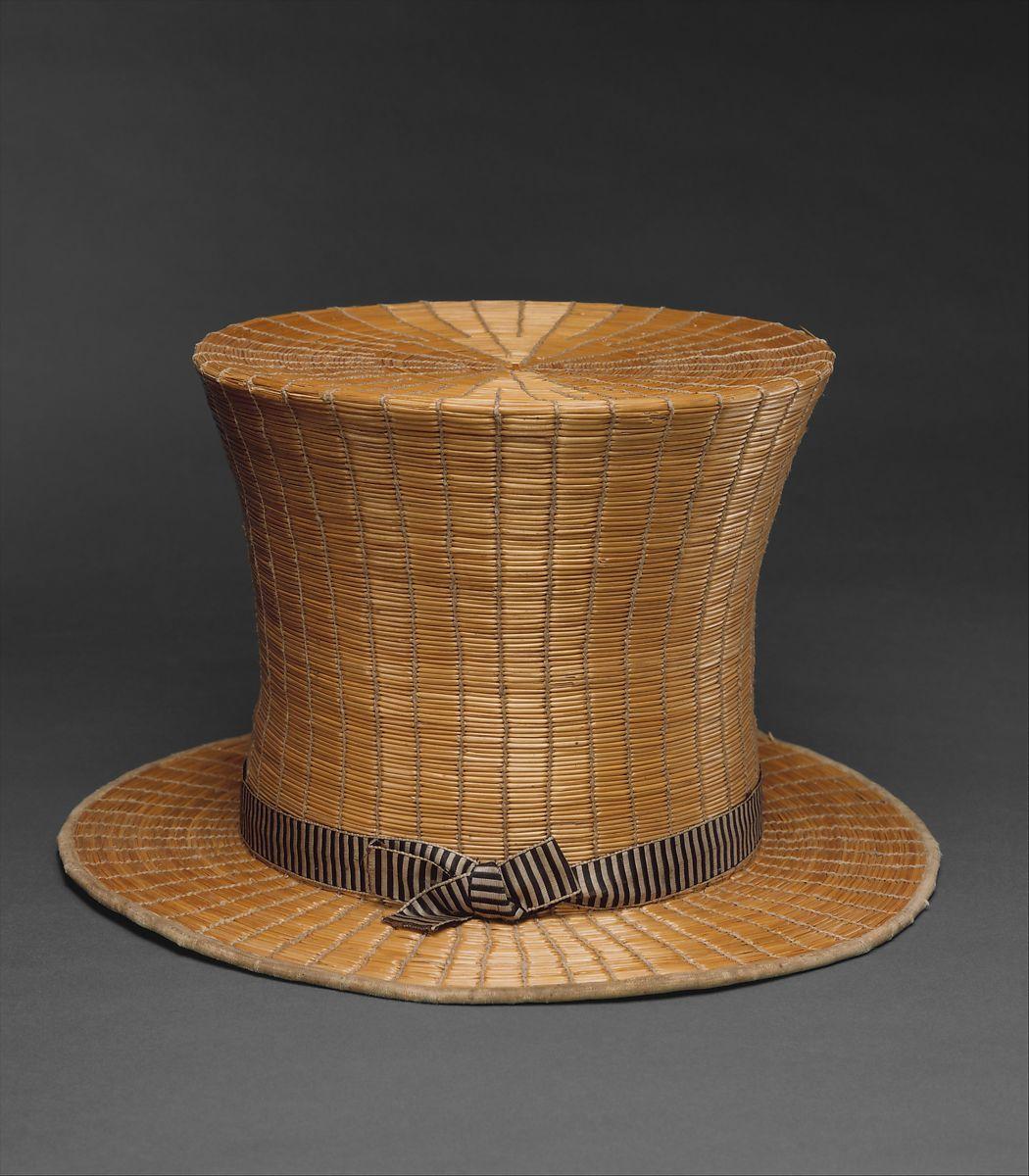 Top Hat French The Met Ca 1820 1984 580 2 In 2020 Top Hat Hats Vintage Hats