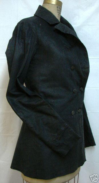 1850s-60s black wool frock coat