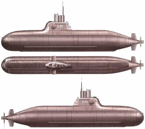 type 201 - first post ww2 german sub design, flawed by hull