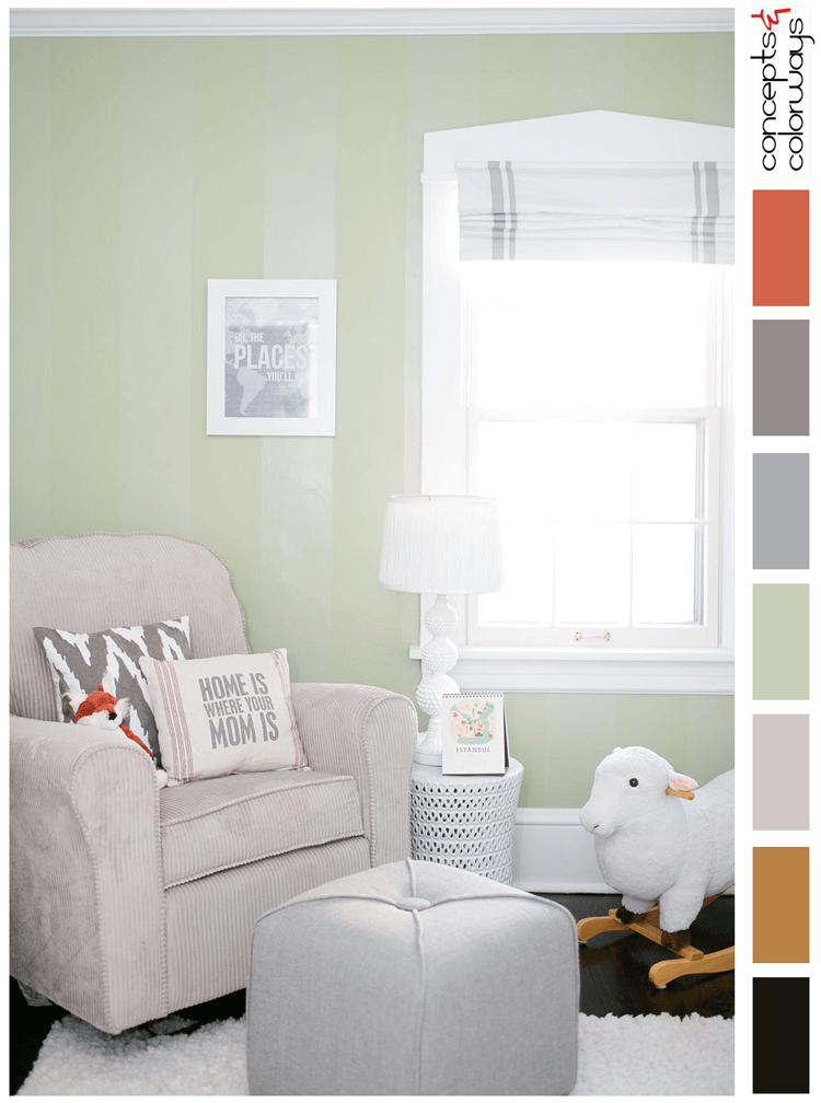 A Sage Green And White Color Palette With A Hint Of Burnt Orange Concepts And Colorways Sage Green Paint Sage Green Walls Light Green Nursery
