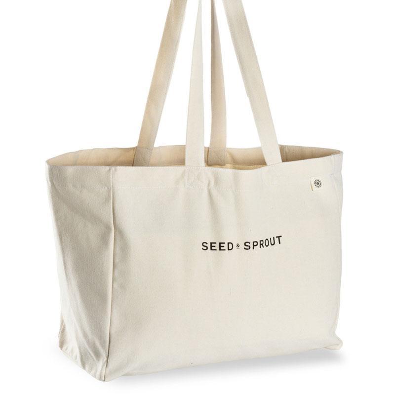 Fabric Handbag Large Capacity Shoulder Bag Cotton Shopping Tote Bags Lunch Box