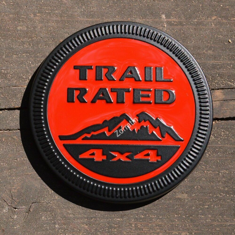 Sponsored Ebay Metal Red Blacked Out Trail Rated 4x4 Emblem