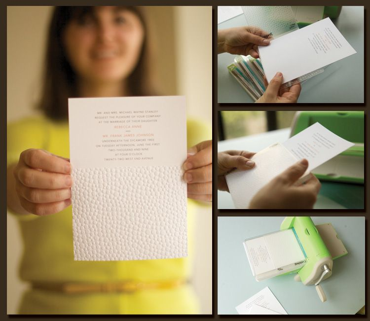 Using Cuttlebug For Embossed Wedding Invitations