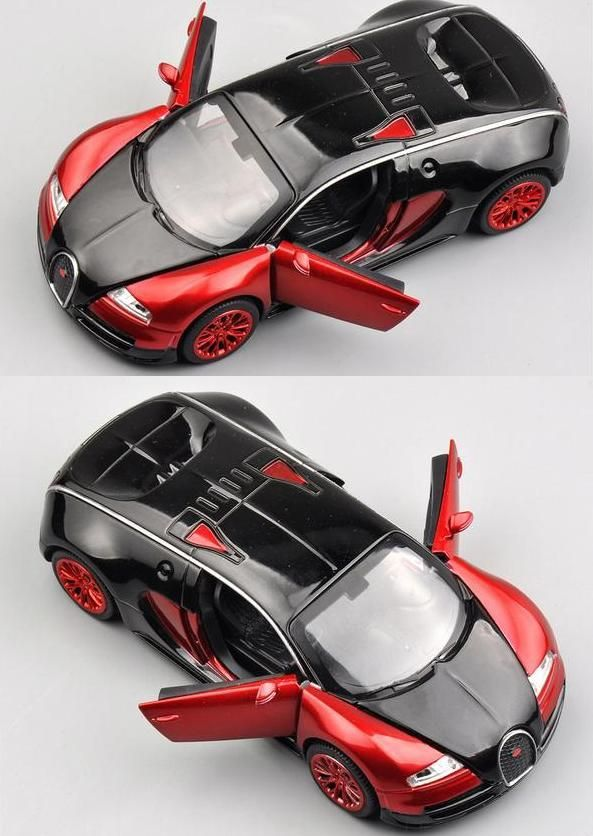 Double Horses 1:32 Scale Bugatti Veyron Alloy Diecast Car Model Pull Back  Toy Cars