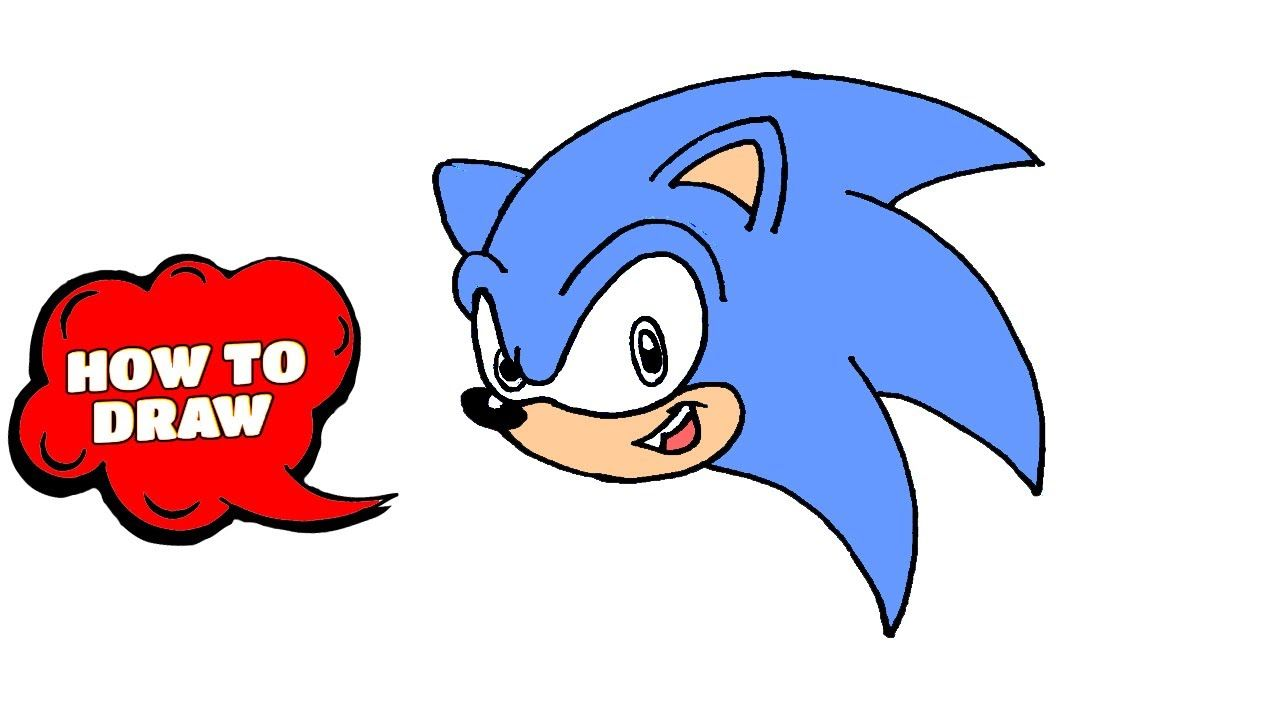 How To Draw Sonic The Hedgehog Head Sonic How To Draw Sonic The Hedgehog In 2020 How To Draw Sonic Art Tutorials Drawing Drawing Tutorial Easy