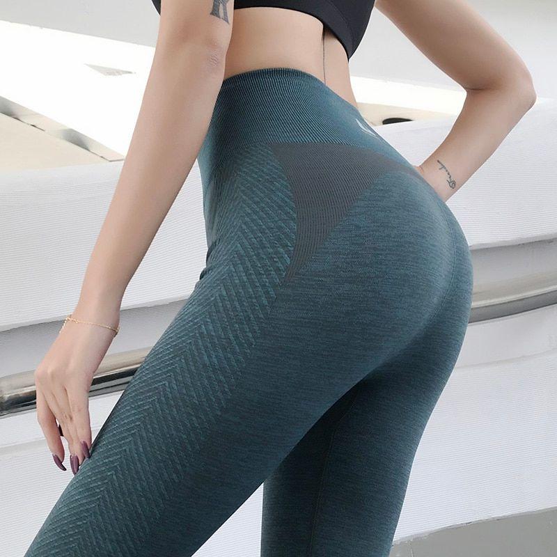 Womens High Waist Yoga Pants Hip Push Up Sports Gym Fitness Running Leggings O96