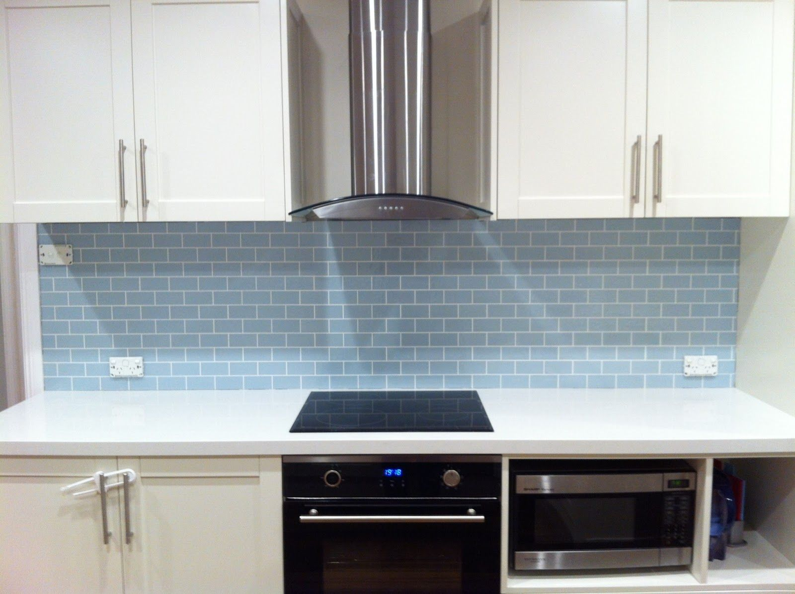 duck egg blue splashback tile - Google Search | Kitchens | Pinterest ...