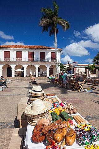 Cuba, Pinar del Río, Viñales, Valle de Viñales, plaza de la ciudad