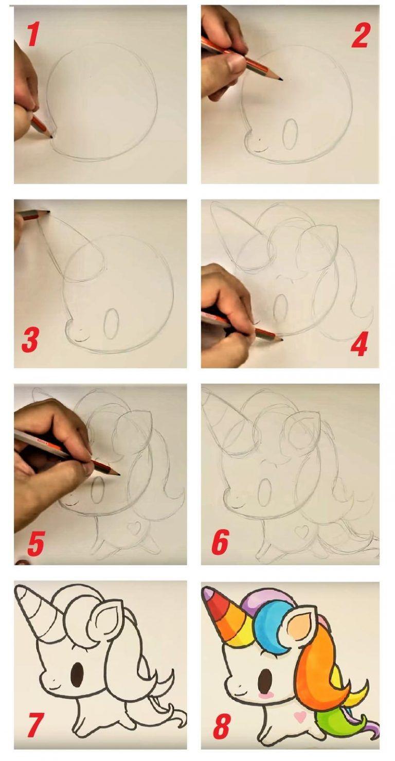 Dibujos Faciles De Unicornios Paso A Paso Y Kawaii Como Dibujar Un Unicornio Dibujos De Unicornios Como Hacer Dibujos Faciles