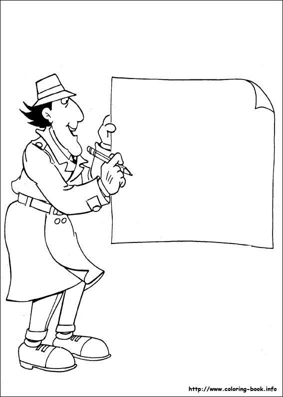 Inspector Gadget Coloring Picture Inspector Gadget Coloring