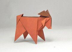 GOAT Origami Roman Tags Uruguay Goat Cabra Romandiaz