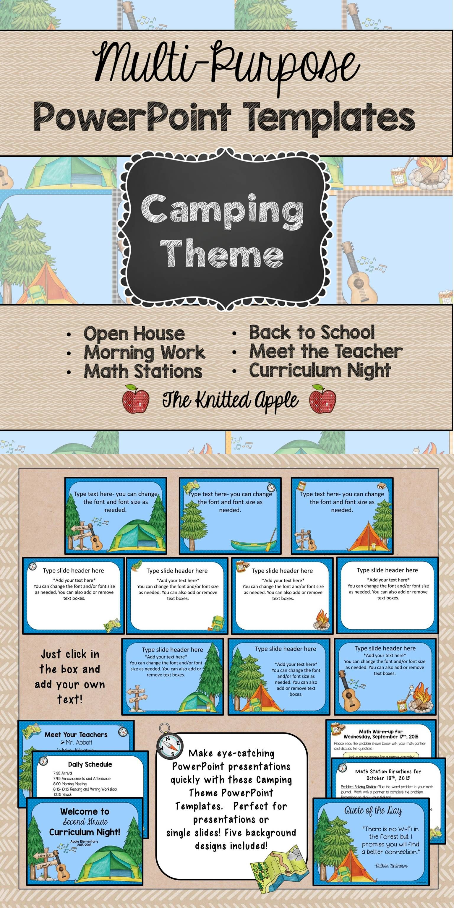 Gmail theme fox - Camping Theme Powerpoint Templates For Your Camping Theme Classroom Perfect For Open House Curriculum