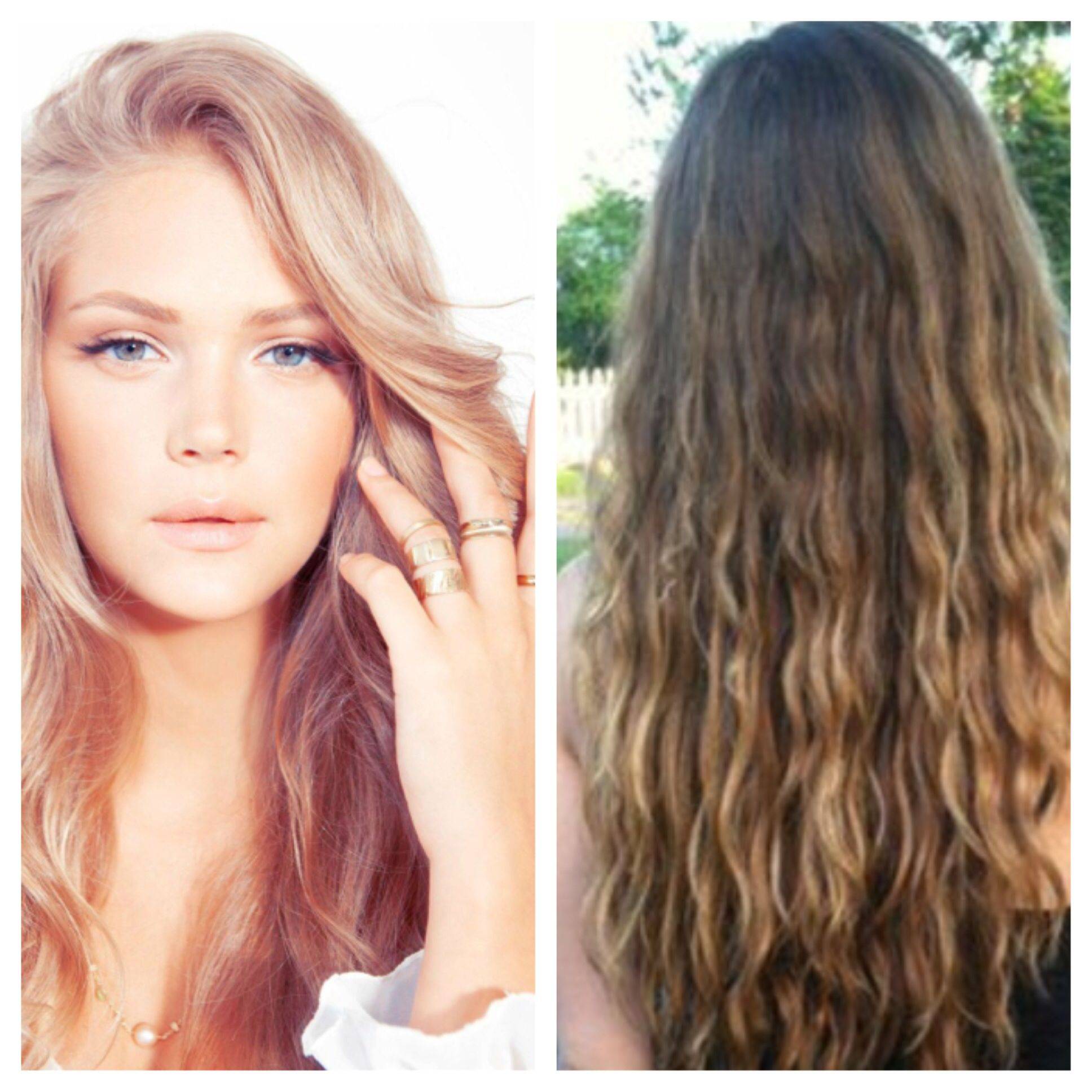 new summer hairstyle- red-blonde dye or beach wave perm? | hair