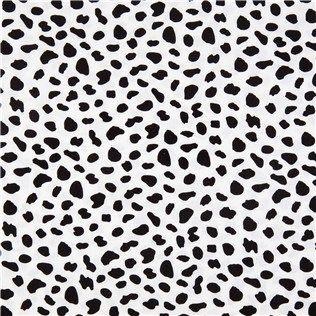 Black Off White Spots Apparel Fabric Shop Hobby Lobby Moroccan Fabric Nursery Fabric Dalmatian Print