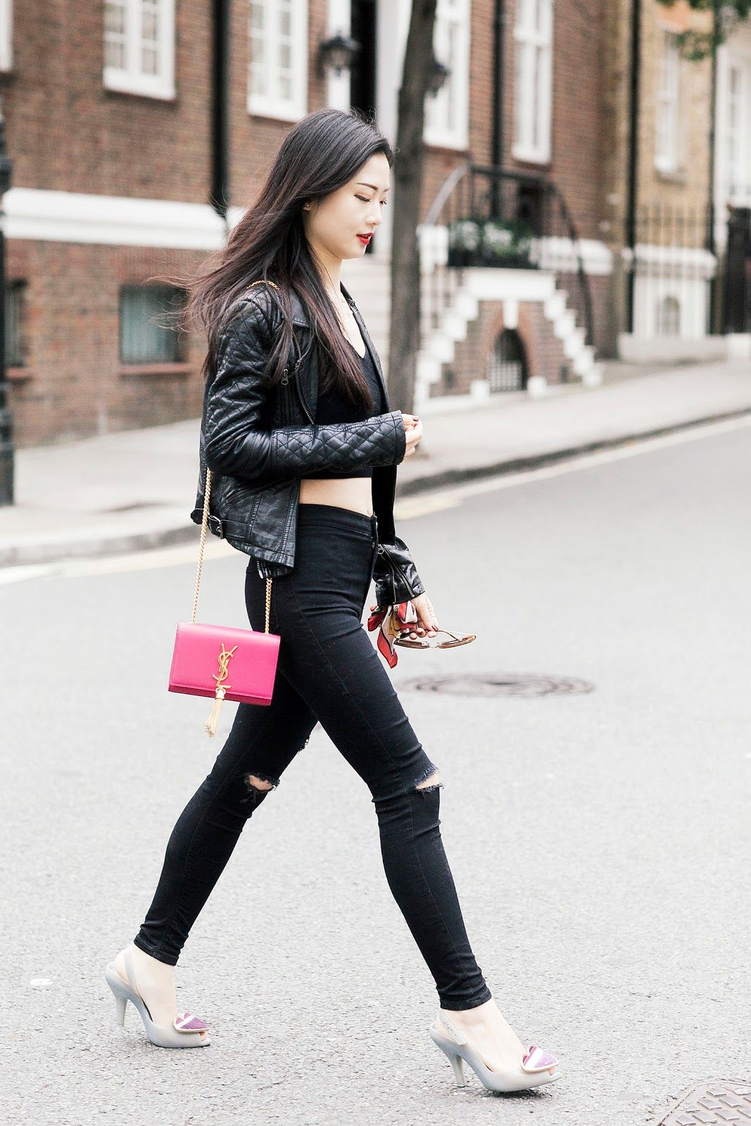 "Vogue says ""Skinny out, rigid in"".  As for me, a pair of  SKINNY jeans with rip detail is always IN."