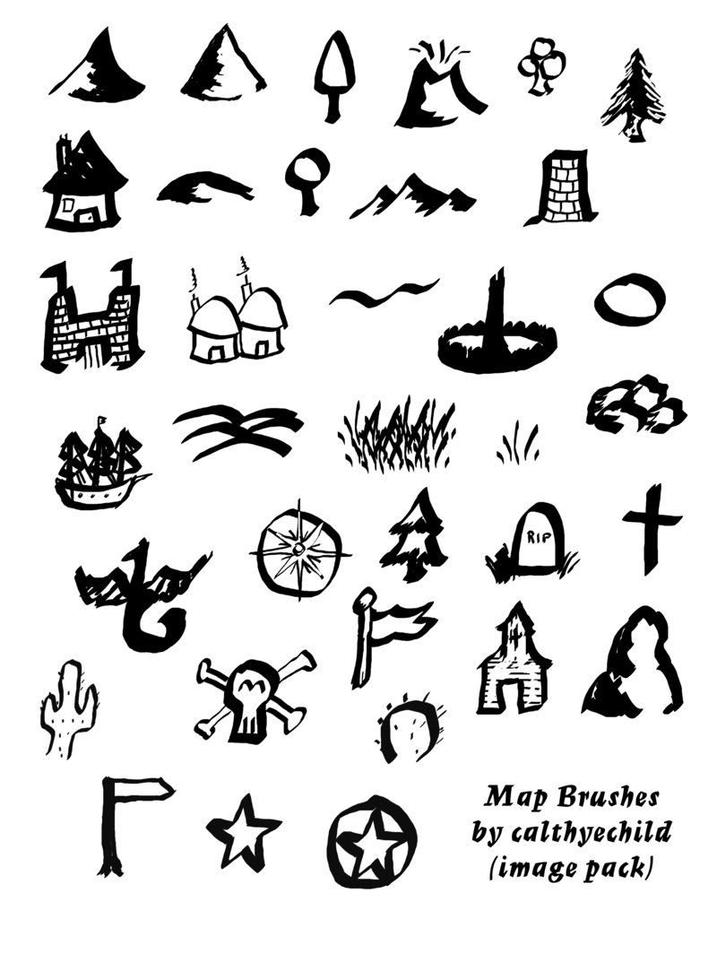 Tolkien map brushes image pack by calthyechild cartography brush set tolkien map brushes image pack biocorpaavc Image collections