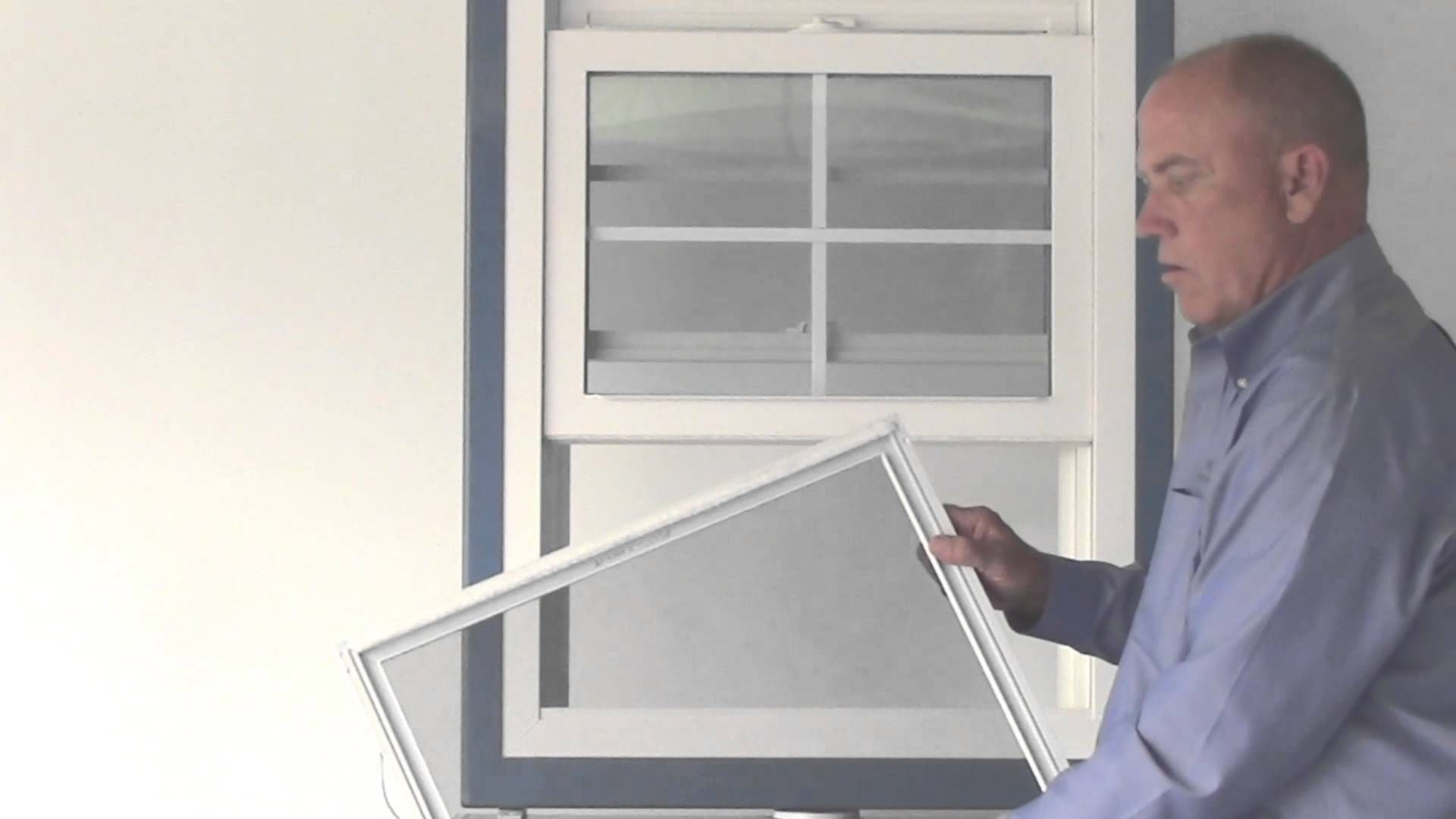 How To Replace An Extruded Half Screen In An S Series Hung Window With Images Half Screen Windows Double Hung Windows