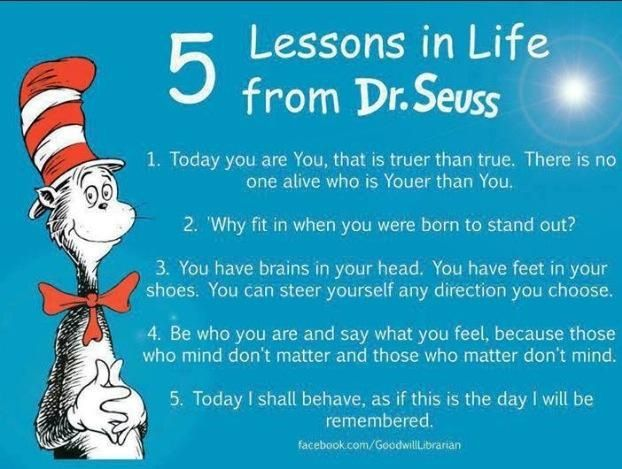Image result for DR SEUSS FIVE LIFE LESSONS