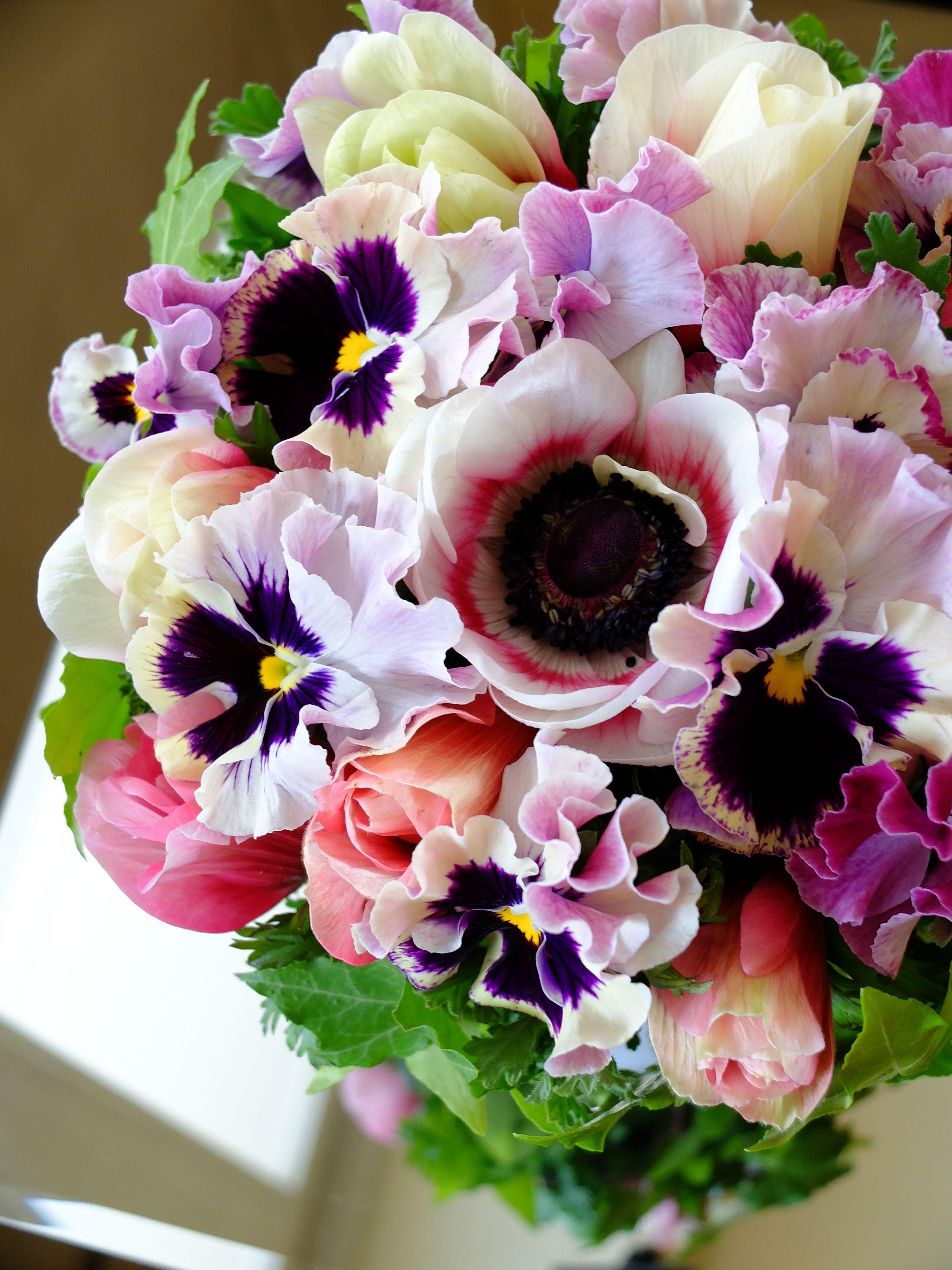 тех цветы букеты анютины глазки невесты свадьбе