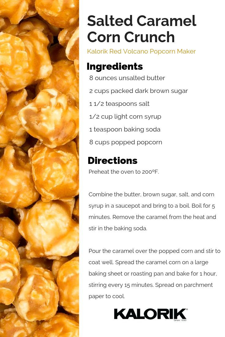 Favorite Party Favorite! Salted Caramel Corn Crunch.   - All Kalorik Recipes -