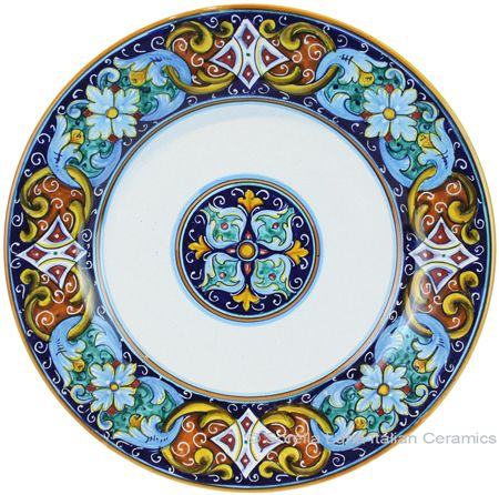Deruta Italian Dinner Plate | Pretty Plates | Pinterest | Dinners Pottery and Italian pottery  sc 1 st  Pinterest & Deruta Italian Dinner Plate | Pretty Plates | Pinterest | Dinners ...