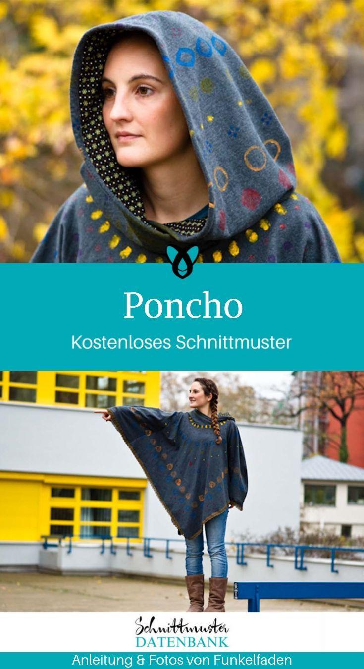 Poncho #gratisschnittmuster
