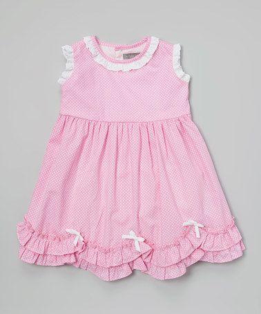 Pink Pin Dot Ruffle Dress - Infant & Toddler #zulilyfinds