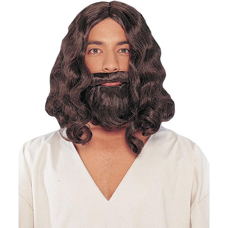 Jesus Wig /& Beard Brown Biblical Costume Accessory Adult Easter