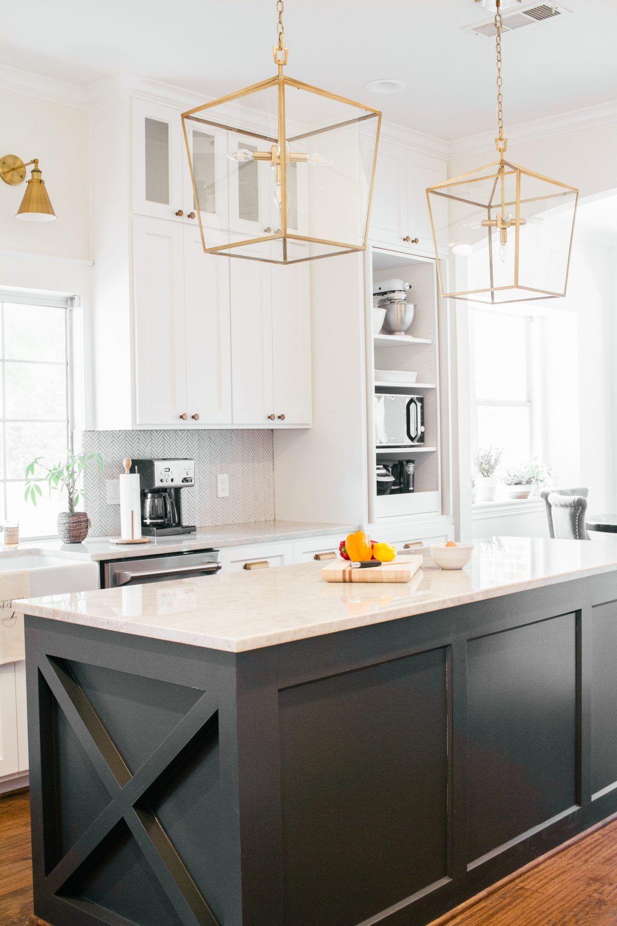 a coastal farmhouse in white done so right in 2020 farmhouse style kitchen black kitchen on farmhouse kitchen kitchen id=14669