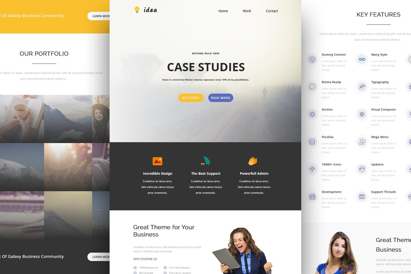 Idea - Responsive Email and Newsletter Template HTML, PSD | Email ...
