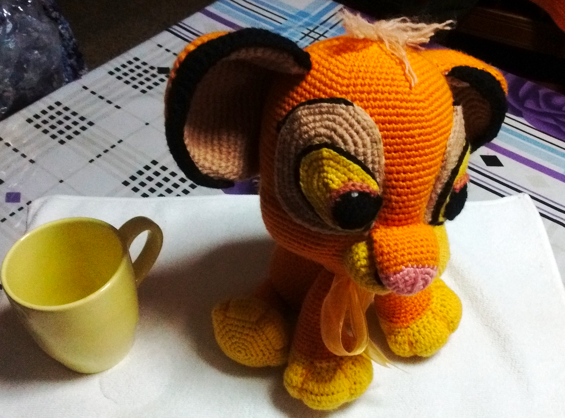 León Amigurumi Tutorial : Simba el rey león the lion king made by yuly alonso using this