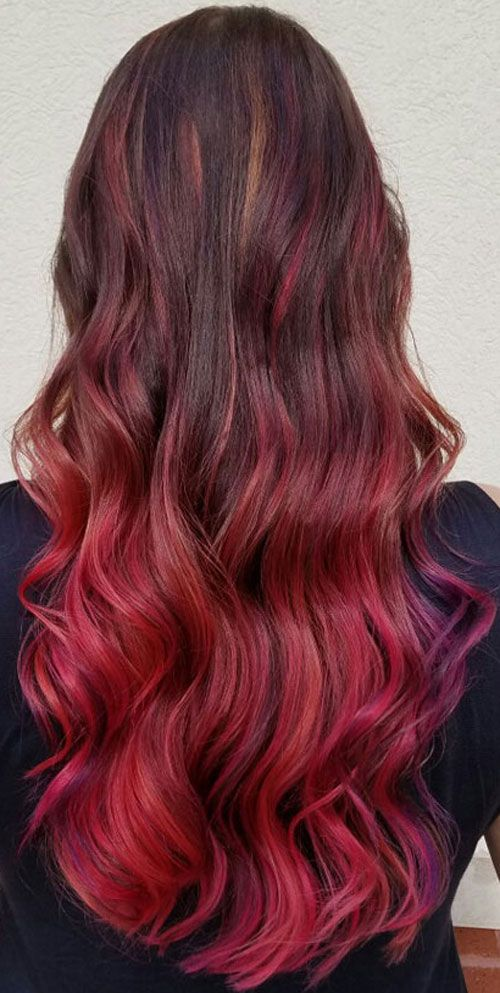 Best Ombre Hairstyles Blonde Red Black And Brown Hair Red