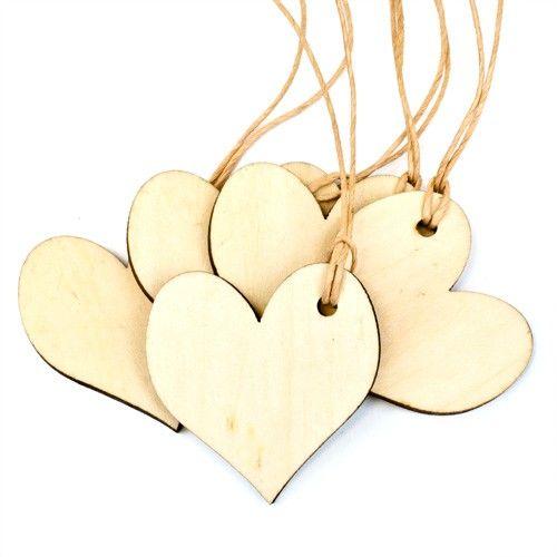 "Geschenkanhänger aus Holz ""Herz"" 5 Stück"