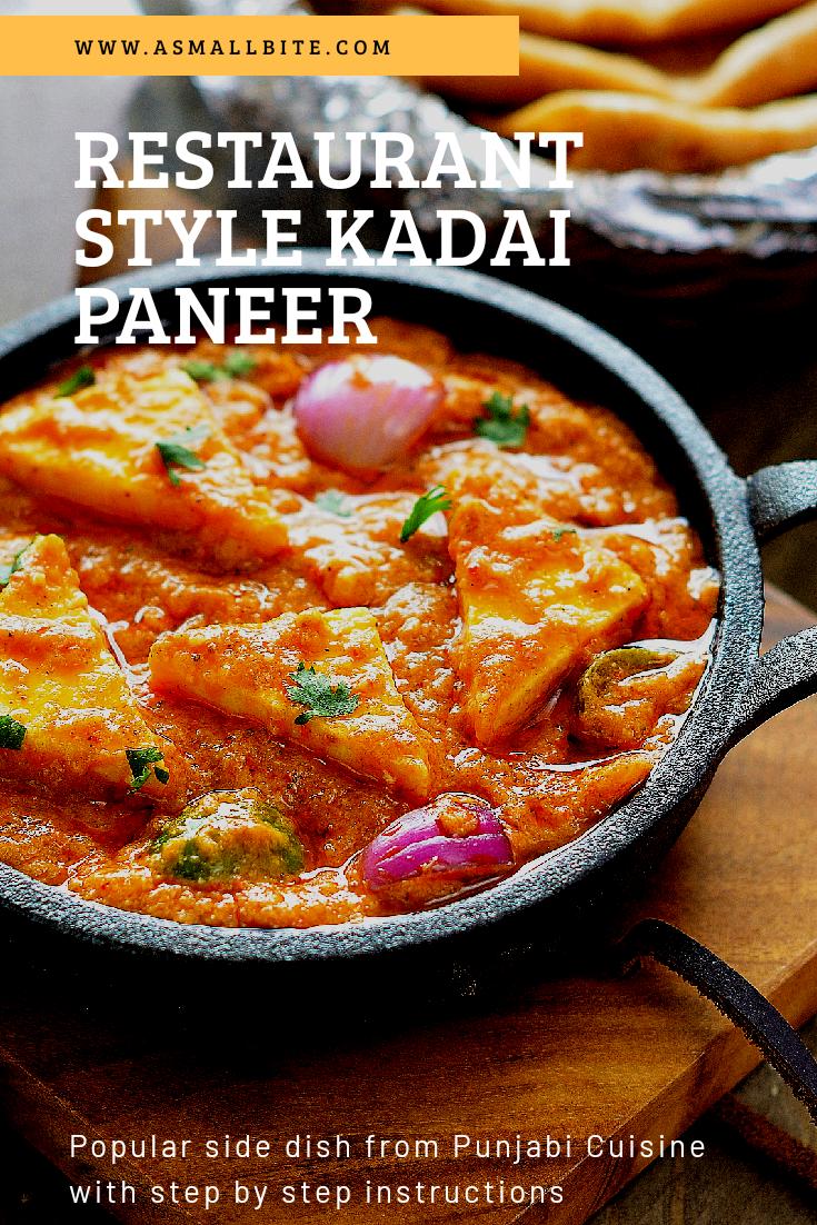 kadai paneer gravy recipe restaurant style kadai paneer recipe paneer recipes paneer on hebbar s kitchen kadai paneer id=68588